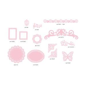 12 Paper Decorations - Pink Paper