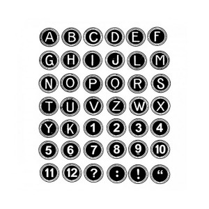 Acrylic Stamp Cm. 14X18 Alphabet And Numers