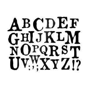 Sabloond Cm.20X15 Alphabet