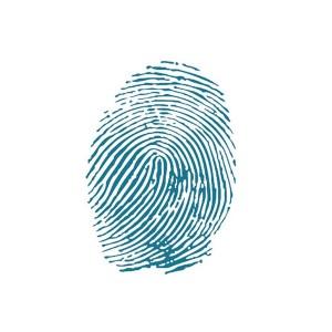 Sabloon  20X25Cm/0,2Mm Fingerprint
