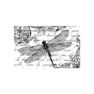 Kummist Templid 7X11Cm. - Dragongfly And Writing