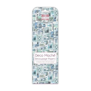 First Edition Fsc Deco Mache  Blue Stamps