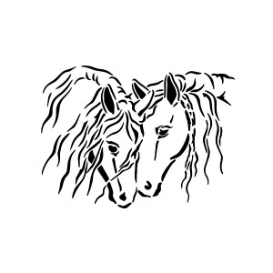 "All-Purpose Stencil A4 ""Horses"""