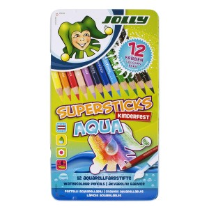 Jolly Värvipliiatsid Aqua, 12Tk,Met.Karp