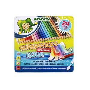 Jolly Värvipliiatsid Aqua, 24Tk,Met.Karp