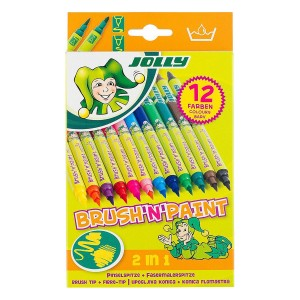 "Kaheotsaga viltpliiatsid Jolly ""Brush &Paint "" 12tk"