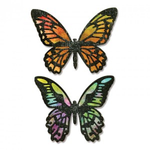 Thinlits. 4Tk Detailed Butterflies By Tim Holtz