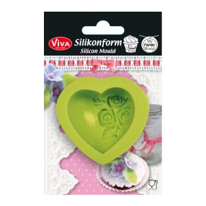 """3D Silikoonvorm"""" Heart With Roses"""""""