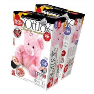 457010Е Käsitöö K-T Plush Heart «Pink Pig»