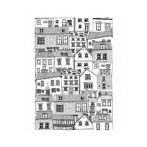 First Edition Rubber Stamps A6 Houses