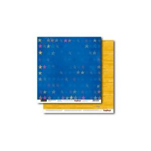 Scrapbookingu paber 30x30 cm- 190 gsm- Basik's New Adventure- To the stars