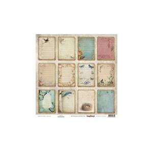 Scrapbookingu paber 30x30 cm-190gsm, -Primavera- Cards 2