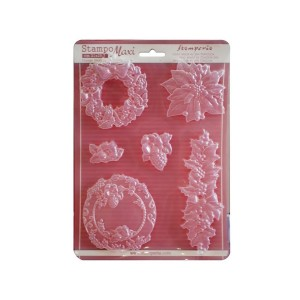 Soft Maxi Mould - Poinsettia And Garlands