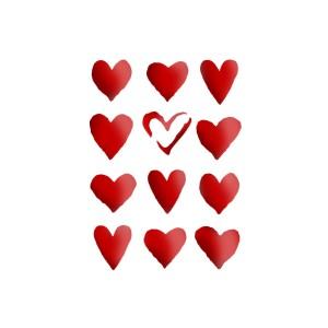 Sabloon 21X29.7Cm Hearts