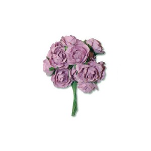 12 Antique Pink Paper Small Roses Bouquet