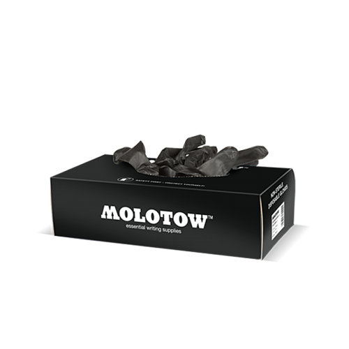 MOLOTOW™ Nitrile Gloves Box, M must kinnas (1 tk)