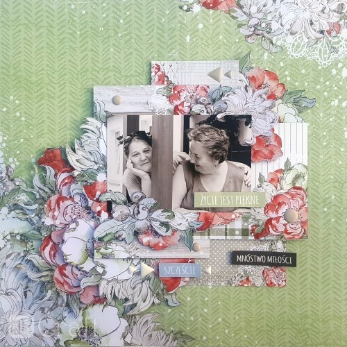 Scrapbookingu Paber 30X30cm, WINTER MOMENTS 02