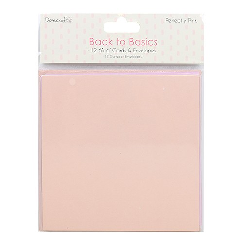 Dovecraft Back to Basics Perfectly Pink Cards and Envelopes