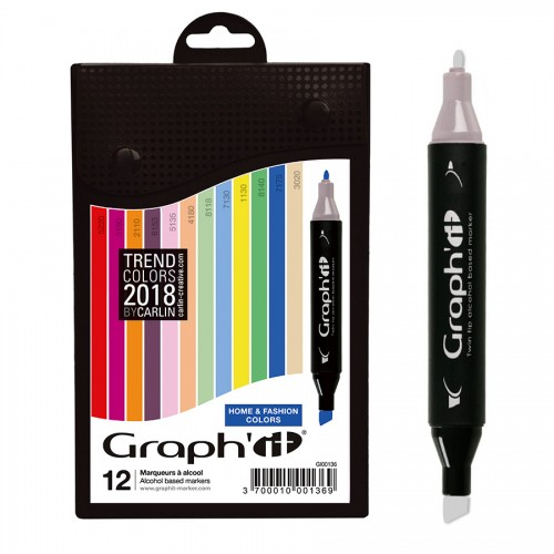 Komplekt GRAPH'IT Marker 12tk  - Home & Fashion