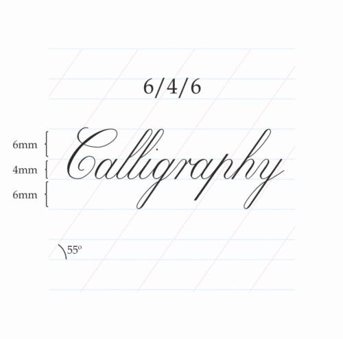 Copperplate Calligraphy 6/4/6 mm – A4 (Portrait)Paberiplokk