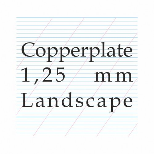 Copperplate Calligraphy 1,25 mm  – A4 (Landscape)Paberiplokk