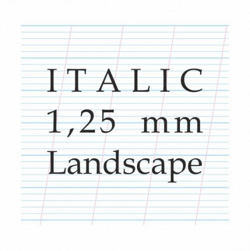 Italic Calligraphy 1,25 mm– A4 (Landscape)Paberiplokk
