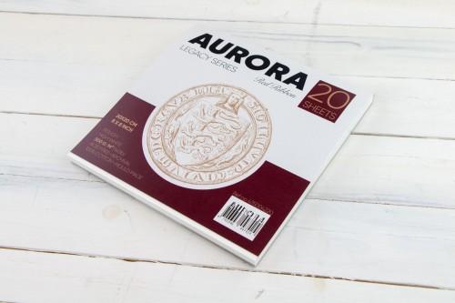 Akvarelliplokk AURORA Red Ribbon 20x20, 300gsm 100% Puuvill 20 lehte, Krobeline