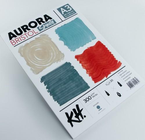 Joonestusalbum AURORA Bristol  A3, 300gsm 20 lehte, Sile