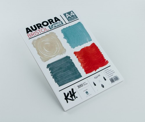 Joonestusalbum AURORA Bristol A4, 300gsm 20 lehte, Sile