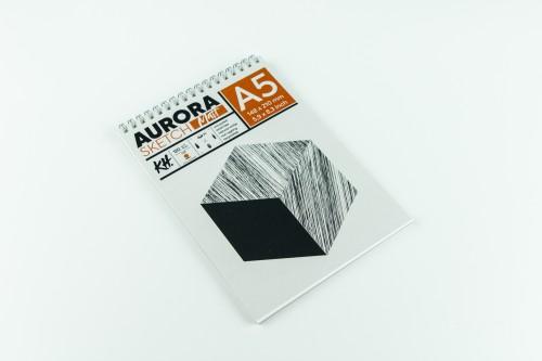 Joonistusalbum AURORA Smooth&Matt  A5, 120gsm 20 lehte (Spiraalköide)