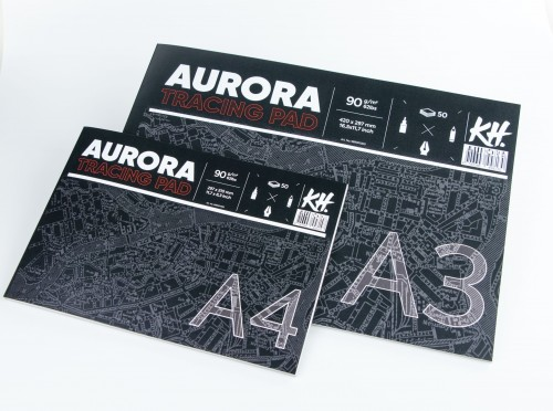 Kalkapaber plokis AURORA A4 ,90gsm, 50 lehte