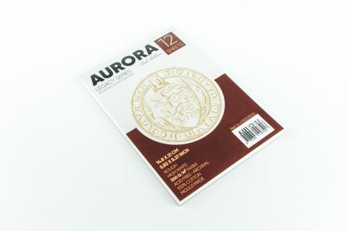 Akvarellialbum AURORA Red Ribbon A5, 300gsm 100% Puuvill 12  lehte, Krobeline