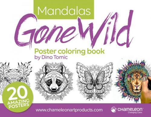 """Mandalas Gone Wild""värviraamat Chameleon"