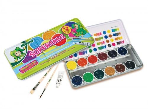 """Akvarell """"Jolly""""  metallkarbis 12 värvi"""
