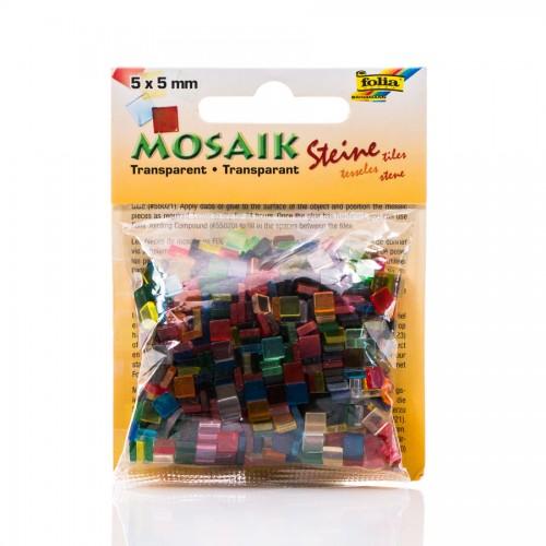 "Mosaiigi K-T ""Transparent"" 5X5Sm.700Tk. Folia"