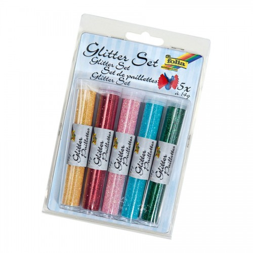 Glitter/Sädelev Pulber  5X14 Folia