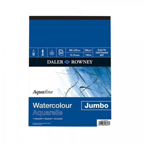 """Akvarellplokk  """"Jumbo"""" 300Gsm 30.5X22.9, 50L  Daler-Rowney"""