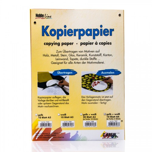 Kopeerpaber Valge+Kollane 21X30 Sm 5Lh