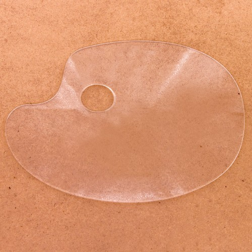 Plastic Palett Läbipaistev Ovaal 31X21Sm