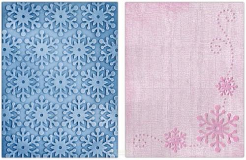 -50% Sizzix Textured Impressions Embossing Folders 2PK - Winter Snowflakes Set