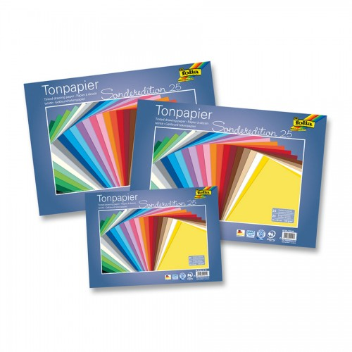 Värviline Paber 25X35Cm, 25Lehte, Folia