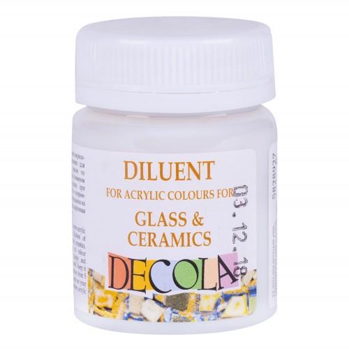 Lahusti  klaas,keraamika akrüülvärvideleDecola50ml