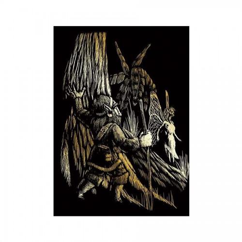 Laste Gravüürikomplekt Gnome & Fairy