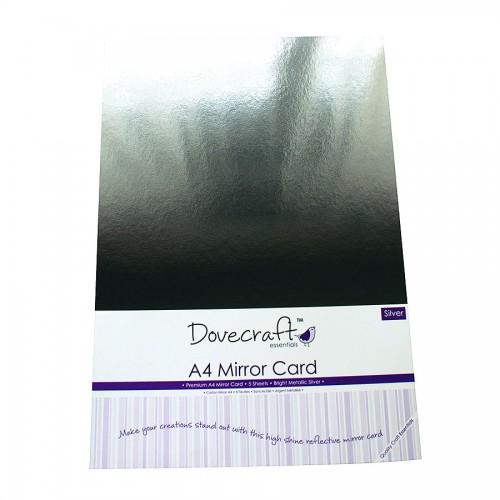 Dovecraft A4 Silver Mirror Card