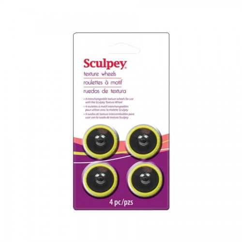 Sculpey Texture Wheel Head 4 P