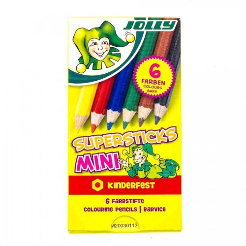"""Laste Värvipliiatsite Komplekt """"Jolly"""" 6 Tk Mini"""