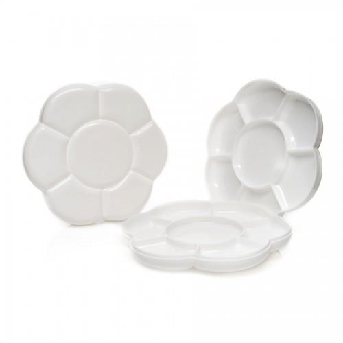Plastik Palett 2Tk Komplektis, 18Cm Diameeter, 7 Pesa Ühes