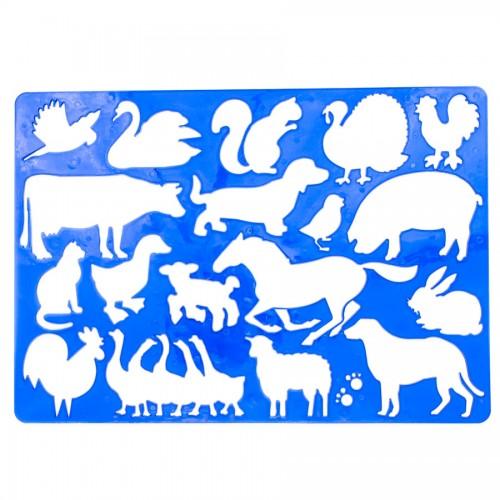 """Plastmassist šabloonid joonistamiseks 20.2cm x32.5cm""""Loomad"""""""