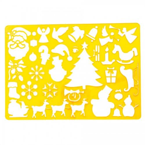 """Plastmassist šabloonid joonistamiseks 20.2cm x32.5cm """"Jõulu"""""""