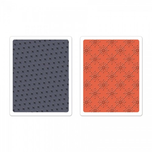 -50% Textured Impressions Embossing Folders 2Pk - Yuletide Boulevard Set By Basicgrey